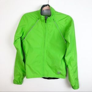 NOVARA neon green windbreaker bike jacket XS